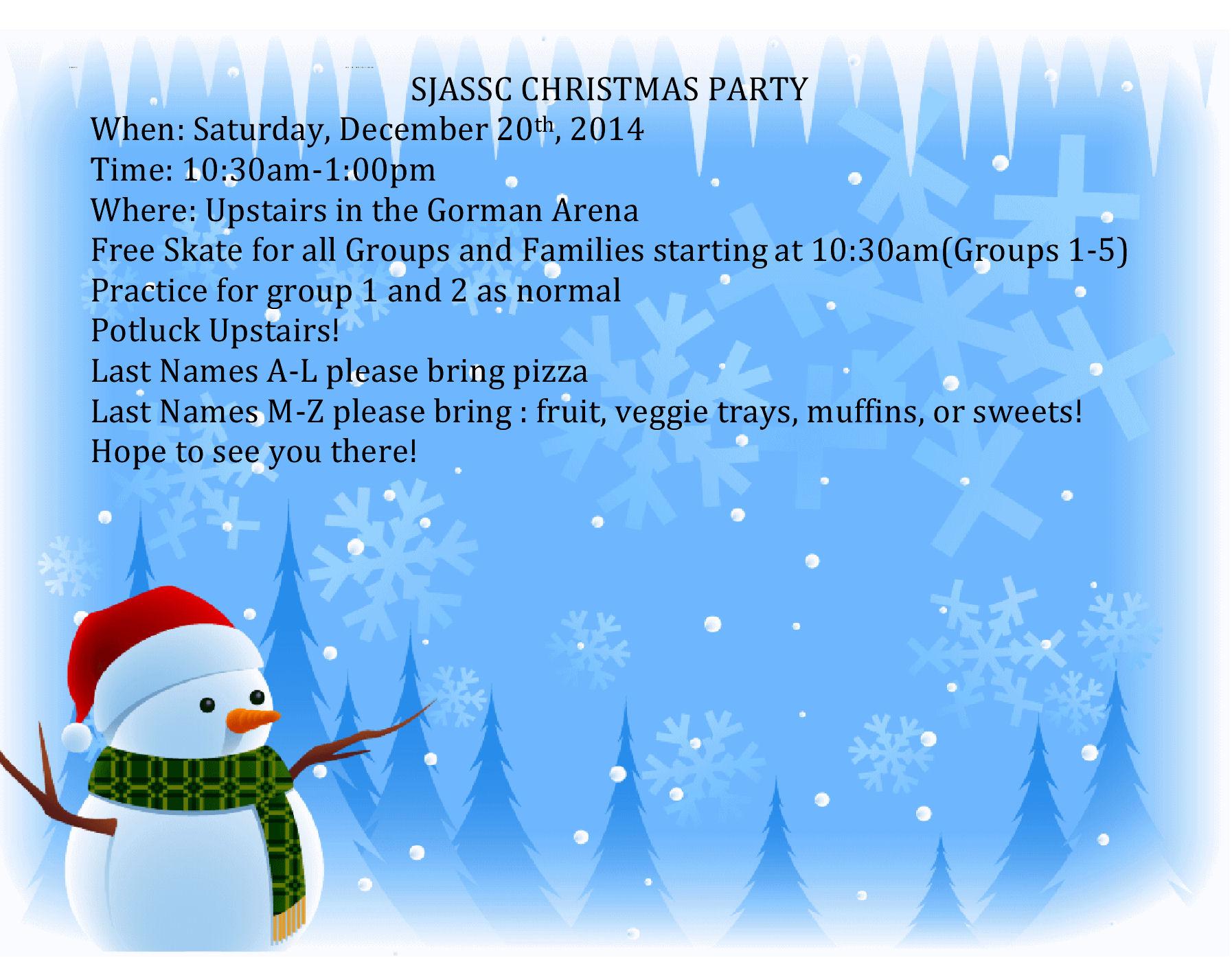 sjassc christmas party invite2014