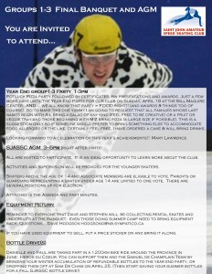 2015 bANQUET & agm INVITE sjassc