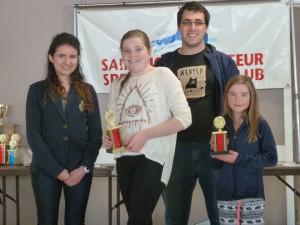 2SJASSC Banquet -Junior Achievement Award Females Madeline Smith & Bronwyn Smith-April 2015-04-19 12.50 (51)