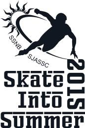 Skate Into Summer 2015 logo bl&w