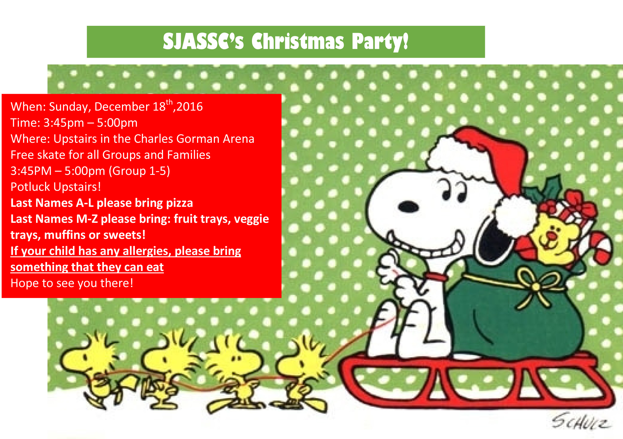 invitation to sjassc christmas party for all skaters sunday dec invitation to sjassc christmas party for all skaters sunday dec 18th
